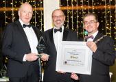 Woodrow receiving award