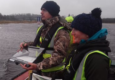 Patsy and roisin on a boat