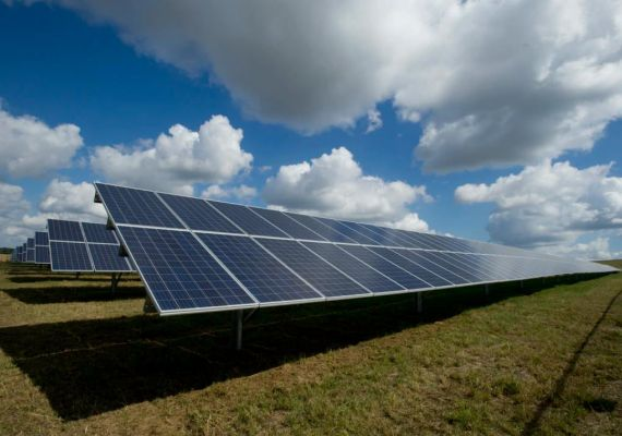 Ground mounted solar farm denmark